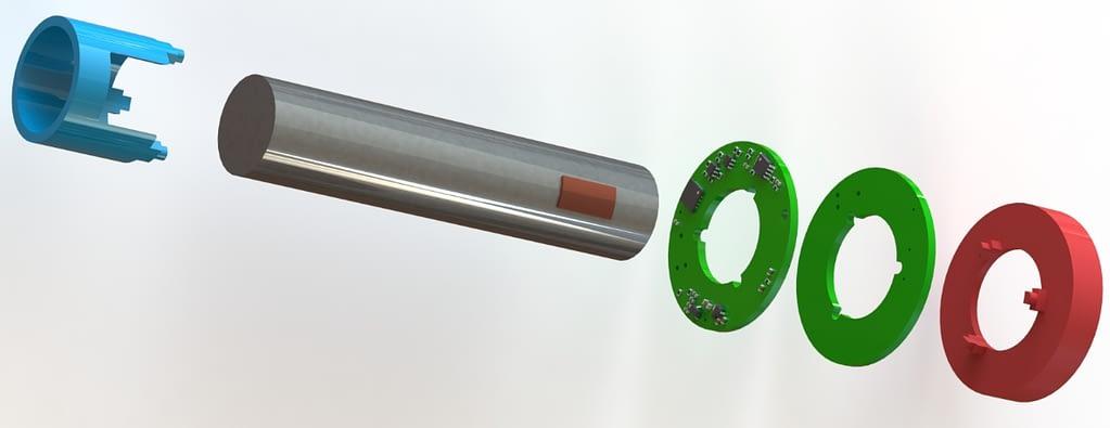 e-mobility torque sensor exploded view